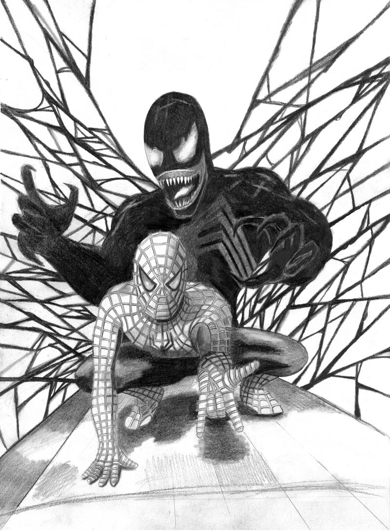 Process-and a work in progressVenom Spiderman 3 Drawings